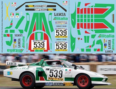 1/24 Lancia Stratos HF Turbo GR 5 1977 Giro D'Italia Alitalia S.Munari P.Sodano
