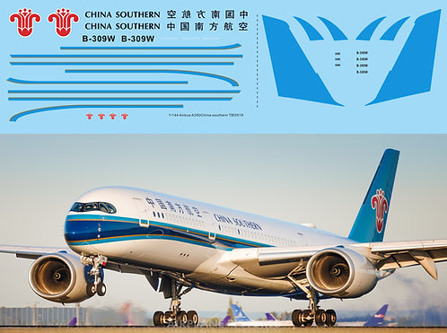 1/144 Decals for Airbus A350 China Southern Airlines TB Decal TBD519