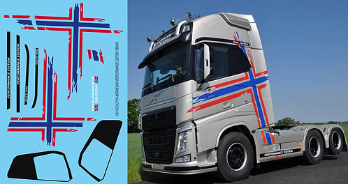 1/24 Volvo FH4 Performance Edition Norwegian livery Decals TB Decal TBD404