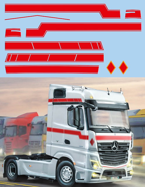1/50 Mercedes Benz MP 4 Big Space Red Strips Decals TB Decal TBD418