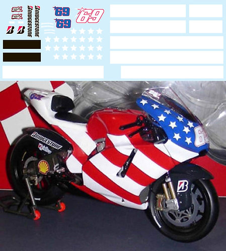 1/12 TEST BIKE DUCATI GP9 NICKY HAYDEN TBD40