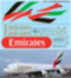 1/144 AIRBUS A380 EMIRATES AIRLINES  LIVERY REVELL  DECALS TB DECAL TBD191