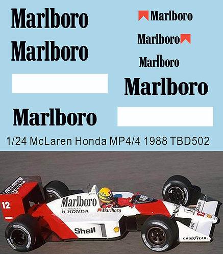 1/24 DECALS FOR McLaren  MP4/4 1988 A.Senna  TB DECAL TBD502