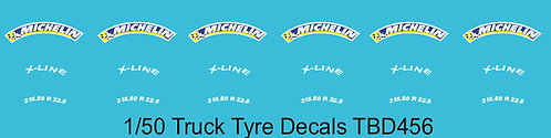 1/50 Michelin Colored Tire Decals for Trucks   Tyre Pneumatici  Lorry TBD456