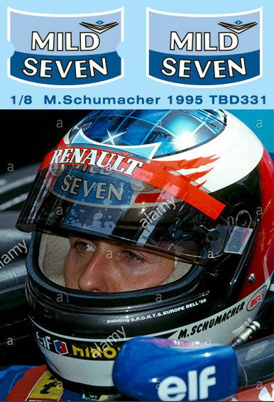 1/8 MICHAEL SCHUMACHER MISSING HELMET DECALS F1  1995  TB DECAL TBD331