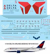 1/144 DELTA BOEING 787 787-8 DECALS TB DECALS TBD83