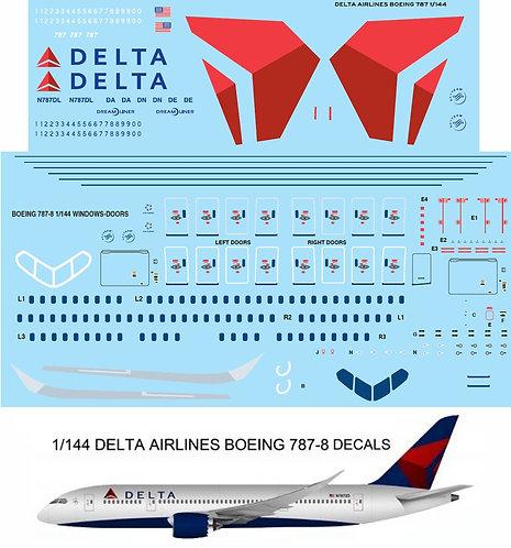 1/144 DELTA BOEING 787 787-8 DECALS TB TBD83