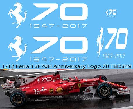 1/12 FERRARI SF70H ANNIVERSARY LOGO 1947 2017 70 YEARS 2017 DECALS  TBD349