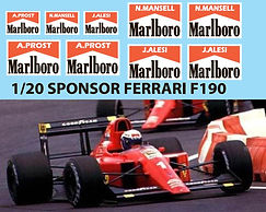 1/20 MARLBORO SPONSOR for Fujimi Ferrari F190 DECALS TB DECAL TBD72