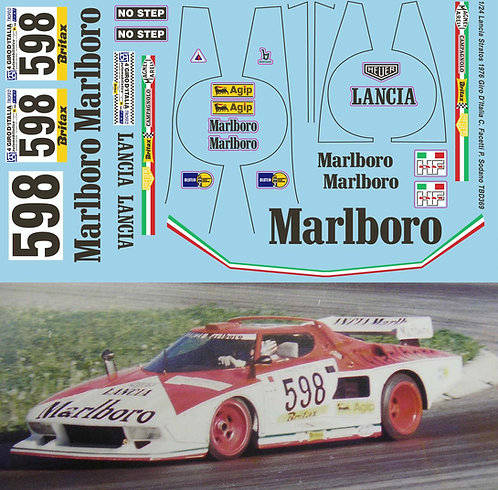 1/24 Lancia Stratos 1976 Giro D'Italia Gr 5 C.Facetti P.Sodano n. 598 Decals TB