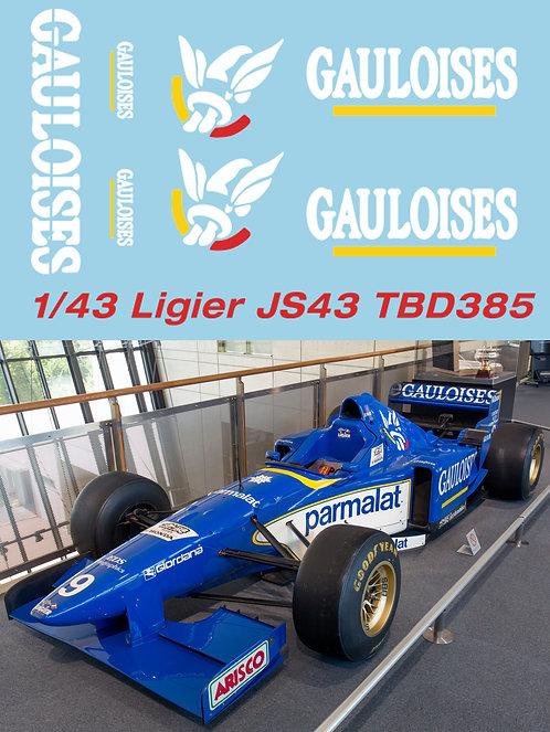 1/43 F1 Ligier JS43 GAULOISES 1996 Decals TB Decal TBD385