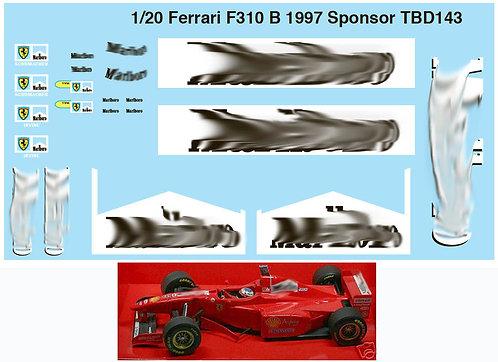 1/20  FERRARI SPONSOR F310B 1997 SCHUMACHER TBD143