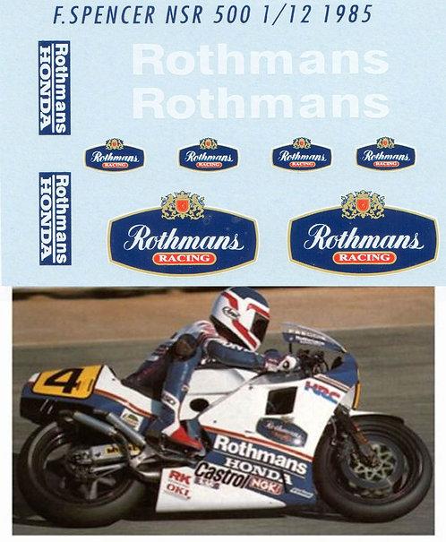 1/12 HONDA NSR 500 FREDDIE SPENCER 1985  TBD22