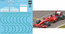 1/18 FERRARI F60 F2009 SPONSOR  KIMI MASSA FOR HOTWHEELS DECALS TB DECAL TBD43