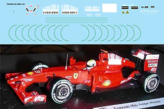 1/43 FERRARI F60 BARCODE FOR HOTWHEELS BBR DECALS TB DECAL TBD54