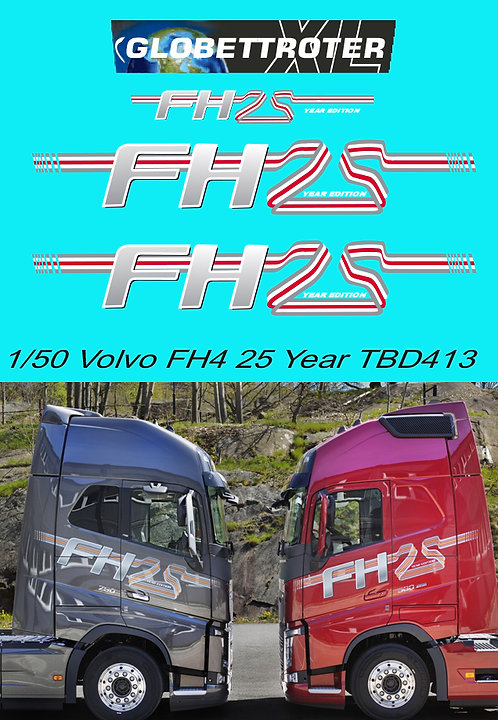 1/50 Volvo FH4 25 Year Edition Decals TB Decal TBD413
