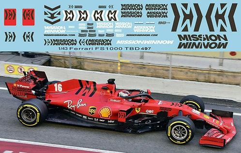 1/43 F1 Sponsor Decals x Ferrari SF1000 2020 TB Decal TBD497