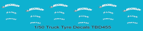 1/50 Michelin Tire Decals for Trucks  Tyre Pneumatici  Lorry Camion TBD455