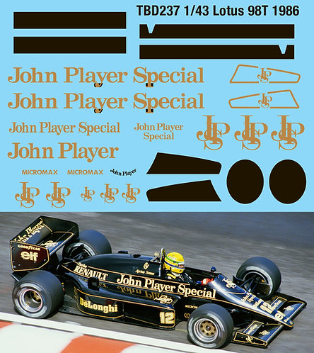 1/43 Lotus 98T John Player Special Decals