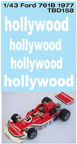 1/43  FORD 761B 1977 HOLLYWOOD DECALS TB DECAL TBD158