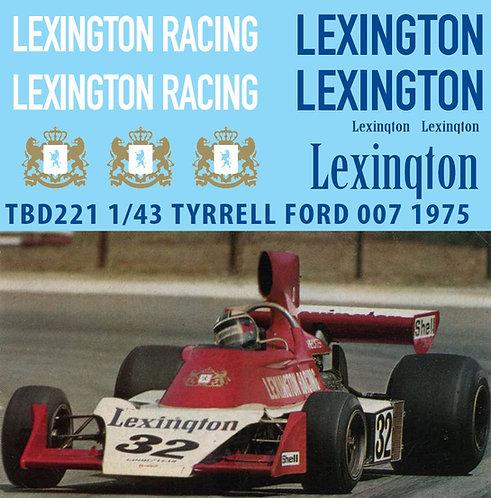 1/43 SPONSOR TYRRELL FORD 0071975 LEXINGTON TBD221