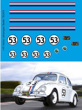 1/43 Herbie Decals for Volkswagen Beetle  TB Decal TBD479