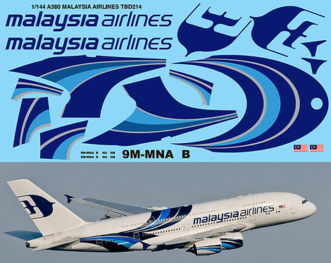 1/144 Airbus A380 Malaysia Airlines for Revell