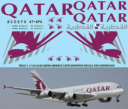 1/144 AIRBUS A380  QATAR AIRLINES REVELL TBD211