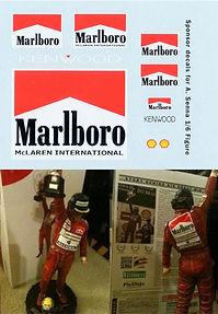 1/6 MARLBOROSO DECAL  Ayrton Senna Brazil 1991 SPONSOR  BRASIL DECALS TBDECALS TBD97