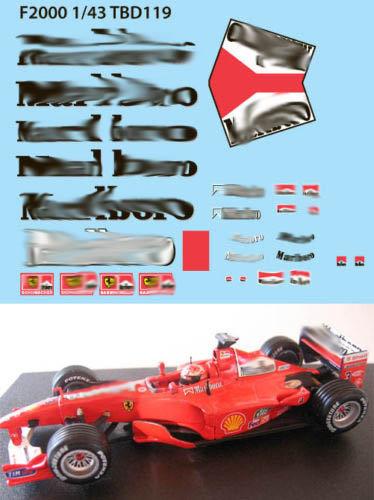 1/43  FERRARI F1 F2000 2000  SCHUMACHER TBD119