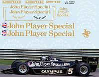 1/10 LOTUS 79 1978 JOHN PAYER SPECIAL JPS SPONSOR RC TAMIYA  DECALS  TB DECAL TBD15