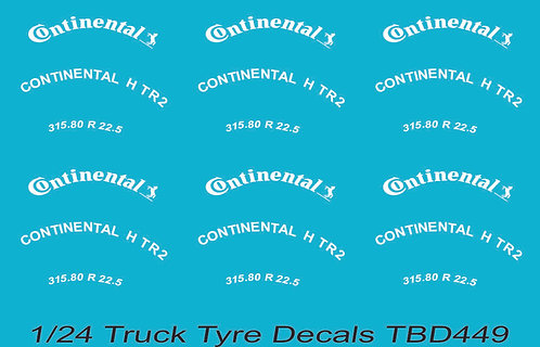 1/24 Continental Tire Decals for Trucks  ( Tyre Pneumatici  Lorry Camion)TBD449