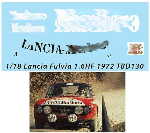 1/18 SPONSOR  LANCIA FULVIA 1.6HF 1972 TBD130