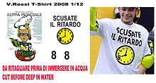 1/12 VALENTINO ROSSI FIGURE T SHIRT 2008 SCUSATE  DECALS TB DECAL TBD32