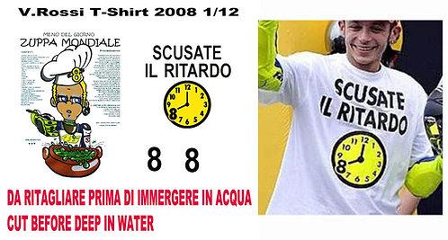1/12 VALENTINO ROSSI FIGURE T SHIRT 2008 TBD32