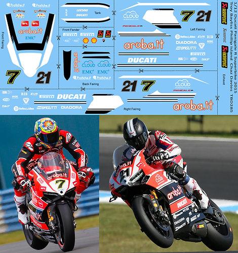 1/12 Ducati Panigale R Superbike 2015 SBK Troy Bayliss Chaz DaviesTBD285