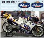 1/12 HONDA NSR 500 WAYNE GARDNER 1987 ROTHMANS DECALS TB DECAL TBD31