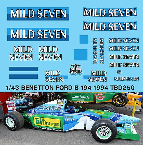 1/43 Benetton Ford B194 1994 Sponsor Decals TB Decal TBD250