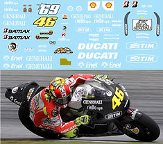 1/12 VALENTINO ROSSI  DUCATI GP12 TEST BIKE SEPANG 2012  DECALS TB DECAL TBD102