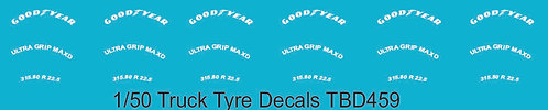 1/50  GoodYear Tire Decals for Trucks  Tyre Pneumatici  Lorry Camion TBD459