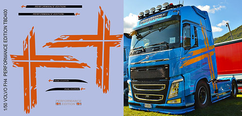 1/50 Volvo FH4 Performance Edition  Red Strips Decals TB Decal TBD400