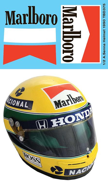 1/2 Ayrton Senna Helmet Sponsor Decals 1990 Sponsor Decal TB Decals TBD375