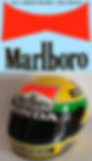 1/2 MARLBORO AYRTON SENNA HELMET 1988 DECALS TB DECAL TBD159