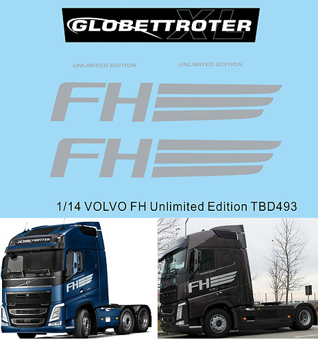 1/14 Decals X VOLVO FH Globetrotter Unlimited Edition TB Decal  TBD493