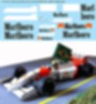 1/18  MARLBORO FOR McLAREN FORD MP4/8 AYRTON SENNA 1993 F1 DECALS TB DECAL TBD104