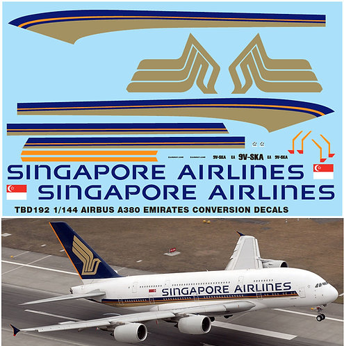 1/144 AIRBUS A380 SINGAPORE AIRLINES REVELL TBD192