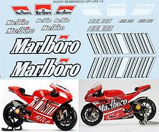 1/9 MARLBORO DECAL DUCATI GP7 GP8 STONER 2007 2008 DECALS TBDECALS TBD14
