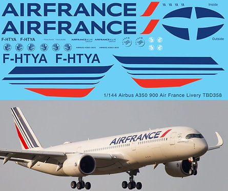 1/144 Airbus A350 900  Air France Livery Decals  TB Decal TBD358