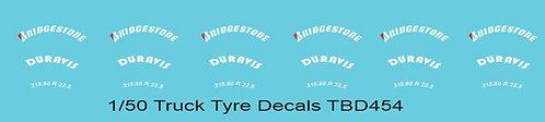 1/50 Bridgestone Red  B Tire Decals for Trucks  Tyre Pneumatici  LorryTBD454