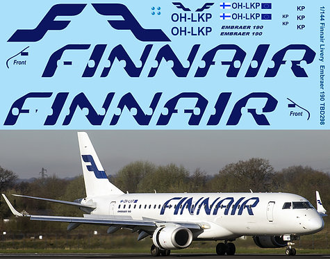 1/144 Finnair Livery Decals for Embraer 190 Decal TBD298